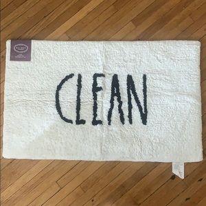 """Rae Dunn Large CLEAN Bath White Rug 21x34"""""""